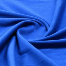 Royal - Plain 100% Cotton Interlock Double Jersey